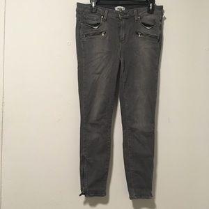 Paige Grey Moto Skinny Jeans 30